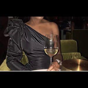 H&M one sleeve extreme shoulder cocktail dress